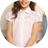 Для школы джемпера (блузки) с коротким рукавом