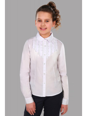 Блузка ЖАБО Дл рукав с брошкой